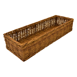 Poly Wicker Rectangle Willow Basket 55x19.5cm