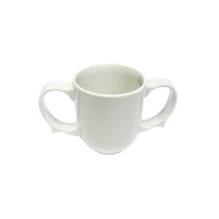 Dignity 2 Handled Mug White Ceramic 25cl