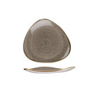 Stonecast Peppercorn Grey Triangle Plate 22.9cm