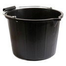 Plastic Bucket Black 14ltr