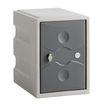 1 Door Plastic Locker Grey with Grey Door