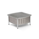 Small buffet station with wire grill - Natural