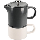 Coffee For One Cool Grey Mug 250ml & Cafetiere 400ml