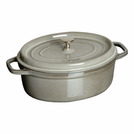 Casserole Grey Cast Iron Oval 1ltr 17cm