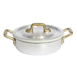 Frying Pan Two Handles+ Lid+Ceramic cm 14