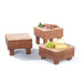 Medium Butchers Block Beechwood Square x 21cm