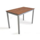 Outdoor Slatted Table 1000x600x640high - Chestnut
