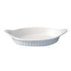 Cookware Dish Eared Oval White Stackable 28cm
