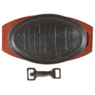 Sizzle Platter Black Cast Iron Oval 28 x 21cm
