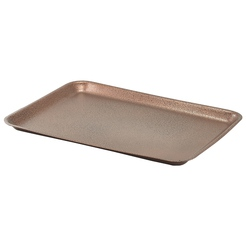 Galvanised Steel Tray 31.5x21.5x2cm Hammered Copper
