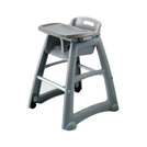 High Chair Tray Stackable Grey Plastic