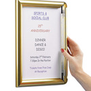 A4 Poster Frame Polished Gold 24.5 x 33cm