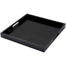 Handled Butlers Tray Black Oak Square 40 x 40cm