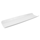 White Melamine Curved 2/4 Gastro Tray
