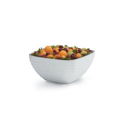 White Square Insulated Serving Bowl 3 Litre