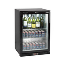 Lec Eco LED Bottle Cooler Black Single Door