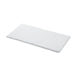 Basalt Collection Rectangular Tray White 30cm