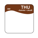 Daymark label Thursday Removable Square 2.5cm
