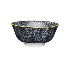 Black and White Floral Ceramic Bowls