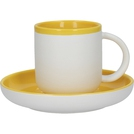 300ml Coffee Cup And Saucer Mustard