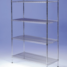 Connecta Nylon Wire Shelves 4 Tier 1200x400mm