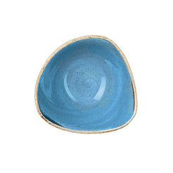Cornflower Blue Triangle Bowl 18.5cm