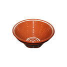 Manoli Ribbed Bowl Brown With Cream Swirl 28cm