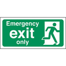 Safety Sign Emergency Exit Only