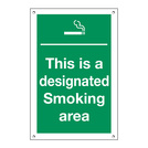 Exterior Sign This Is A Designated Smoking Area