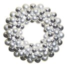 Silver Ball Christmas Wreath 51cm