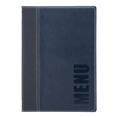 Trendy Leather Style A5 Menu Holder Blue