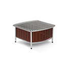 Small buffet station with wire grill - Brown