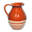 Manoli Traditional Jug Brown With Cream Swirl