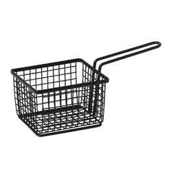 Black Square Wire Basket With Handle