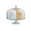 Simplicity Glass Cake Stand With Dome
