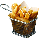 Stainless Steel Serving Fry Basket Rectangular