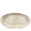 Stone Agate Grey Oval Chefs Plate 13 3/4X6 3/4 inch