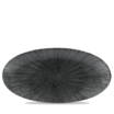 Studio Prints Agano Black Oval Chefs Plate
