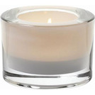 Heavy Base Tealight Holder White Glass 8cm