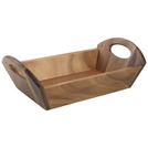 Handled Serving Tray Acacia Wood 31x 18 x 9.8cm