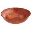 Bowl Brown Wooden Round 20cm