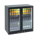 Lec Eco LED UCounter Bottle Cooler Black 2 Door