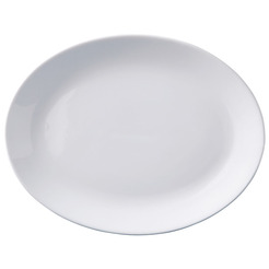 Superwhite Plate Oval 24cm