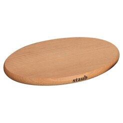 Magnetic Oval Wooden Trivet 150mm