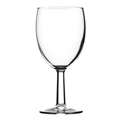 Saxon Toughened Wine Glass 9oz Lined 175ml