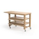 Flow Double Trolley 1344 x 750 x 1046mm Oak