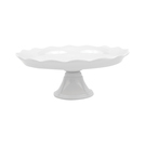 Mini Cake Pedestal Wave Version White 15.3cm