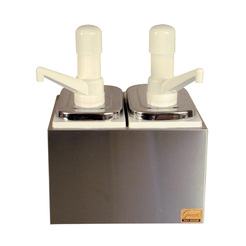 2 Way Sauce Pump Dispenser S/S & Plastic