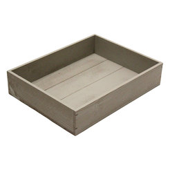 Large Rustic Tray, Grey