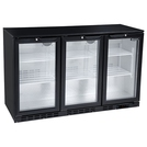 Blizzard BAR3 Bottle Cooler 3 Hinged Doors Black